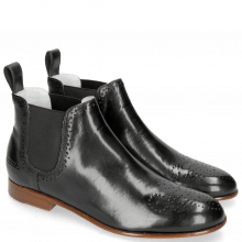 Bottines Sally 16 Black Elastic Black