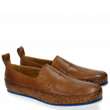Mocassins Alfred 1 Perfo Tan Strap Woven Tan