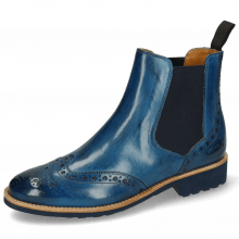 Bottines Selina 6 Mid Blue Elastic Navy