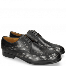 Derbies Sally 82 Black Lasercut Feather