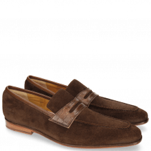 Mocassins Lance 25 A Suede Pattini Crock Brown