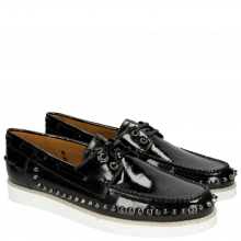 Mocassins Jim 1 Soft Patent Black Rivets
