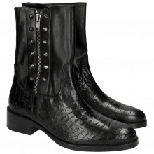 Bottines Elaine 18 Crock Black Washed Nappa