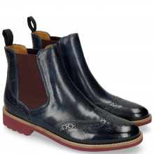 Bottines Selina 6 Venice Navy Elastic Burgundy