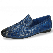 Mocassins Mandy 1 Interlace Scale Weave Neptune
