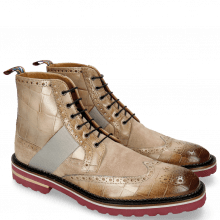 Bottines Eddy 26 Turtle Smoke Suede Pattini Tortora