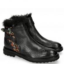 Bottines Amelie 67 Brazil Textile Blush Black