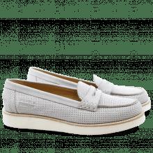 Mocassins Bea 1 Elko Perfo Light Grey XL Malden White