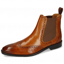 Bottines Xabi 2 Berlin Tan Elastic Brown Rubber Navy