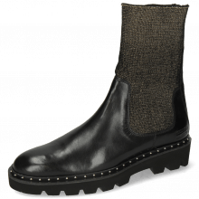 Bottines Susan 69 Black Stefy Black Rivets