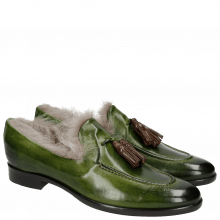 Mocassins Clint 6 Ultra Green Dark Brown Tassel