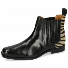 Bottines Bella 1 Palermo Black Hairon Zebra