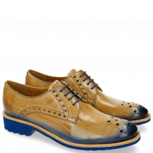 Derbies Amelie 7 Nude Shade Electric Blue Rook D Blue