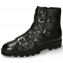 Bottines Susan 44 French Nappa Black Sword Buckle