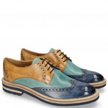 Derbies Amelie 3 Pisa Wind Perfo Mermaid Mastic Olivine Aspen Navy