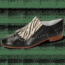 Mocassins Sally 95 Nappa Glove Black Hairon Young Zebra