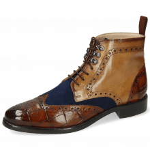 Bottines Betty 13 Turtle Wood Tan Oily Suede Navy Sand