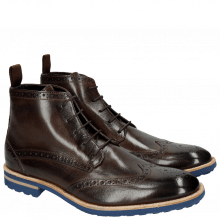 Bottines Eddy 10 Dark Brown Crip Blue