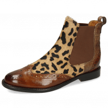 Bottines Selina 29 Tobacco Hairon Lince Beige Baby Croco Chestnut