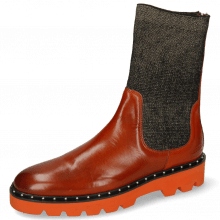 Bottines Susan 69 Orange Stefy Black Gold