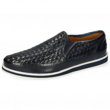 Mocassins Harry 2 Navy Woven Modica White