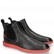 Bottines Newton 3 Franky Perfo Black Risk Red