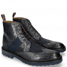 Bottines Eddy 26R Crock Suede Pattini Navy