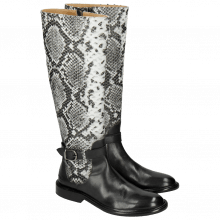 Bottes Sally 58 Snake Nappa Grain Black Strap