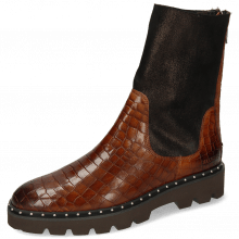 Bottines Susan 69 Crock Mid Brown Textile Prisma Bronze
