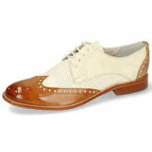 Derbies Amelie 3 Vegas Tan Perfo White Nude Sand