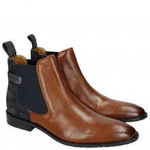 Bottines Victor 6 Rio Mid Brown Suede Pattini Navy