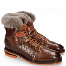 Bottines Trevor 19 Venice Crock Wood Winter Orange Fur Taupe