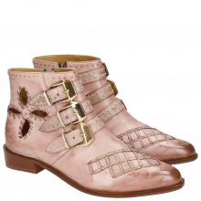 Bottines Marlin 28 Rosa Rivets Gold