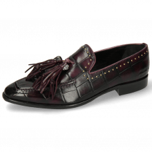 Mocassins Emma 11 Turtle Viola Shade Black Rivets