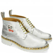 Bottines Bonnie 9 Cherso White Silver Emoji Kiss