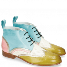 Bottines Sally 30 Vegas Olivine Idra Platino Perfo White Mermaid Skin