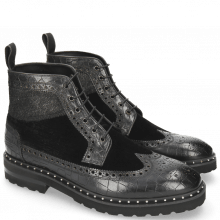 Bottines Matthew 9 Crock Velluto Hair On Breeze Black