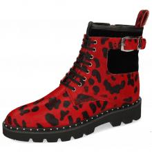 Bottines Susan 66 Hairon Tanzania Red Velluto Black Sword