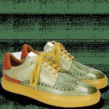 Sneakers Harvey 16 New Grass Perfo Lawn Nappa Glove Kumquat White