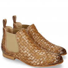 Bottines Sally 25 Woven Nappier Beige