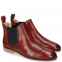 Bottines Susan 10 Perfo Red Elastic Navy