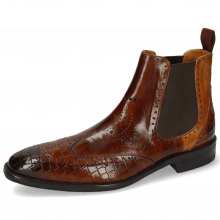 Bottines Jeff 35 Crock Wood Pisa Sand Elastic Dark Brown