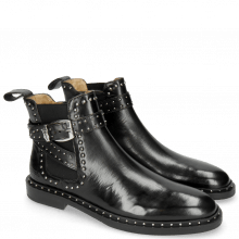Bottines Susan 68 Black Elastic Sword Buckle