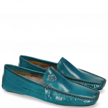 Mocassins Home Donna Turquoise Sock Fur