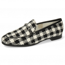 Mocassins Scarlett 1 Textile Square Black White