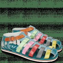 Sandales Sam 3 Turquoise Tibet Sol Glicine Fiesta
