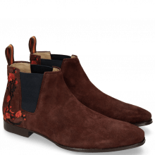 Bottines Viggo 1 Lima Wine Embrodery Flower