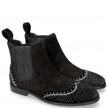 Bottines Giulia 2 Velluto Suede Chilena Black
