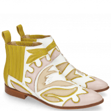 Bottines Jessy 42 Nappa White Rose Beige Yellow