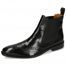 Bottines Xabi 2 Berlin Black Elastic Black M&H Rubber Navy